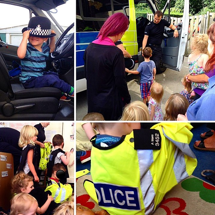 police come to visit Pines Nursery Ilkeston
